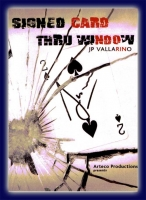 Signed Card thru Window von J.P. Vallarino