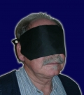 Trickaugenbinde, see through blindfold